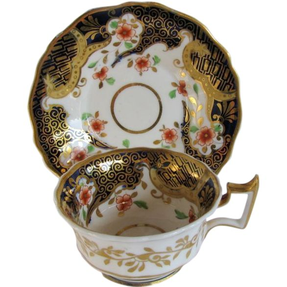 John u0026 William Ridgway Cup u0026 Saucer English Imari Antique Early 19th C Porcelain  sc 1 st  Pinterest & 94 best English Porcelain Antique Early 19 C images on Pinterest ...