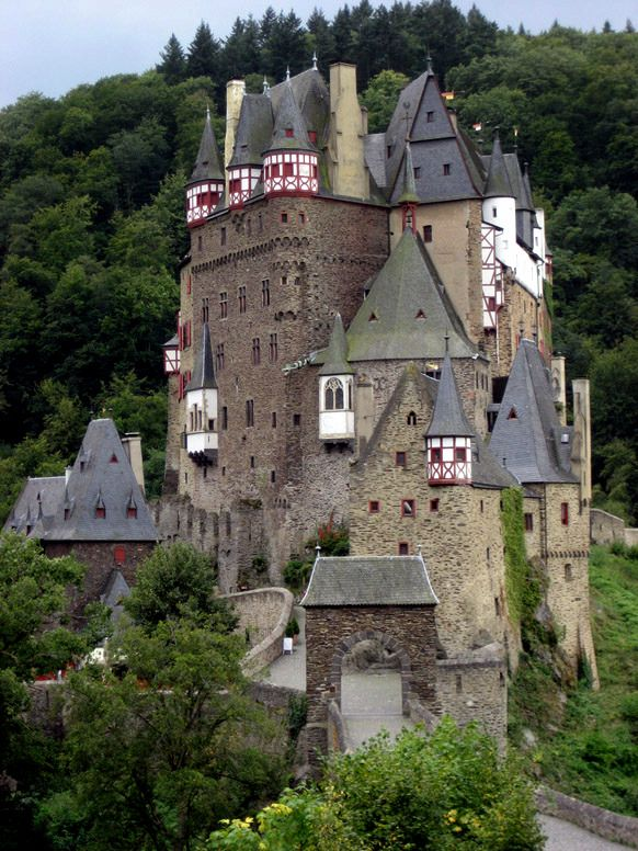 Haunted Burg Eltz in Germany - The ghost of Agnes wanders here after being killed by an unsuitable suiter.