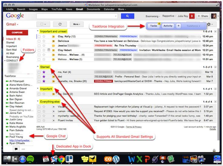 Mailplane productivity GMailHacks Gmail hacks, Apps