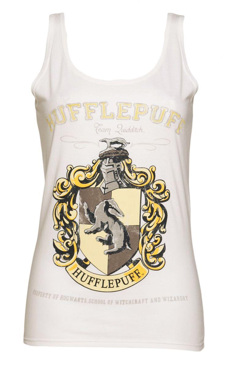 Ladies White Harry Potter Hufflepuff Team Quidditch Vest