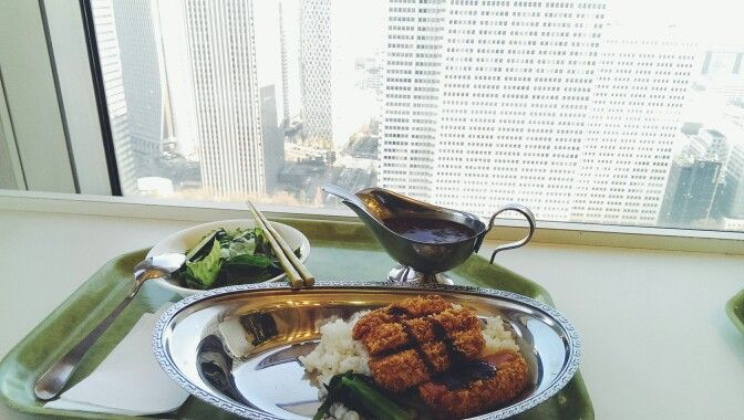 Lunch with a view atop the tokyo metropolitan office