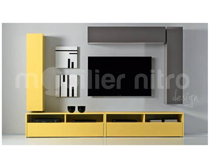 un meuble tv au couleur qui donne le moral chez mobilier nitro nous vous proposons une nouvelle collection vitamine - Meuble Tv Laque Blanc Hudson