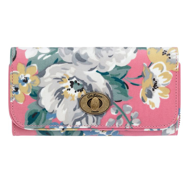 Norfolk Rose Turnlock Wallet | Purses & Wallets | CathKidston