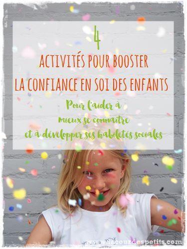 4 activities to develop children's self-esteem
