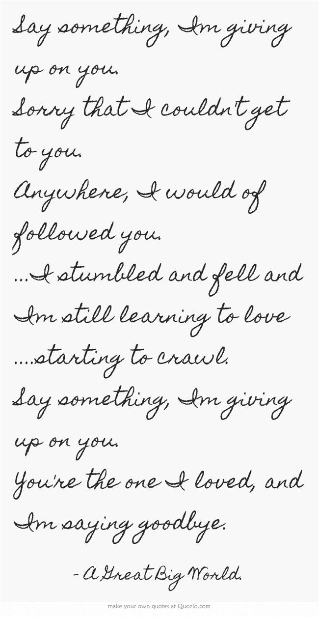Say that you will lyrics