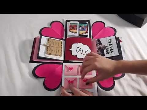 DIY Paper Crafts - How to make an Exploding Box Card for valentine's day - Scrapbooking Tutorial - YouTube