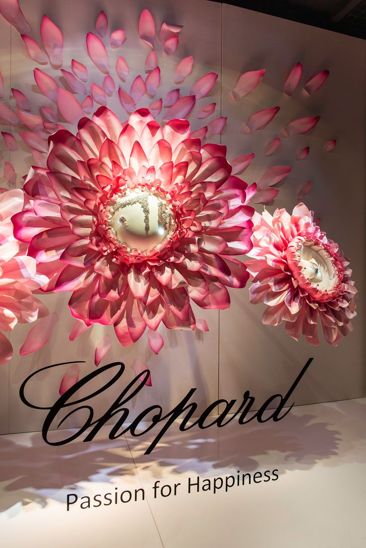 Chopard Floral Window Display | Bridal at Harrods, 2014 by Millington Associates | http://buff.ly/1bLX2Z2