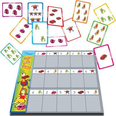 Jeux loto enfant, la foire aux jouets | Jeu pour apprendre les nombres et les quantités en s'amusant
