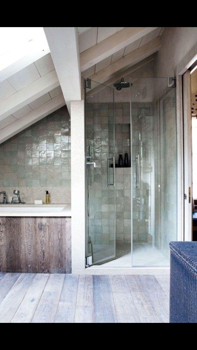 Recessed shower