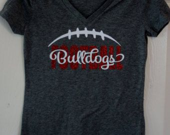 Custom Football Heart Shirt Long sleeves Sweatshirt by GlitterMomz