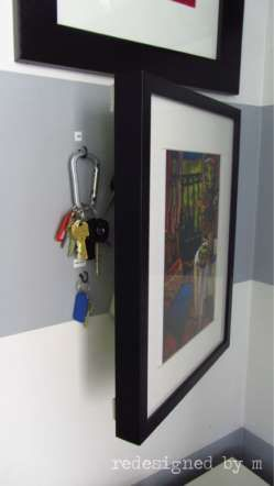When hung on a hinge, wall art can keep keys safe (and stop them from cluttering up your entryway).G... - Redesigned By M