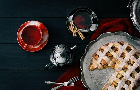 Pomegranate and Apple Delight Recipe #Tea  Ingredients: • 2 Scoops of Pumping Pomegranate • 2 Scoops of Turkish Apple Chunky • 1/2 cinnamon stick  Add tea to the infuser of a four-cup teapot, pour boiling water over the leaves and allow to brew for 4 mins. Remove infuser. Garnish with cinnamon stick.