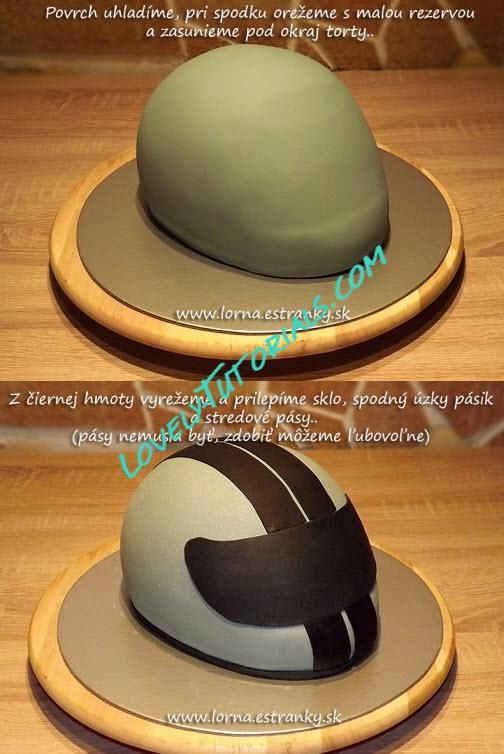 Image result for how to make a motorbike helmet cake