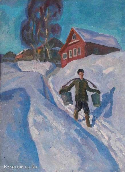 1968 Попков Виктор Ефимович (Россия, 1932–1974) «Зимний день»