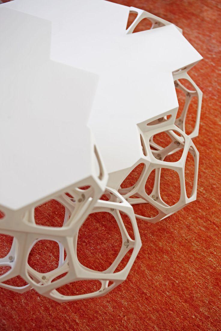 Environ Reception Polyhedra Coffee Table, Interior Design by Haldane Martin, photo Micky Hoyle