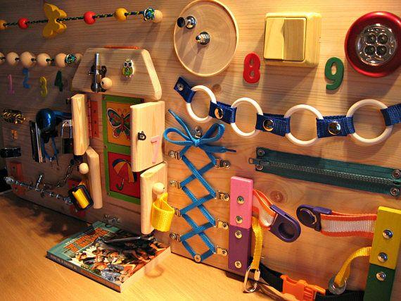 Beschäftigt Board Aktivität Spielzeug sensorische Spiel