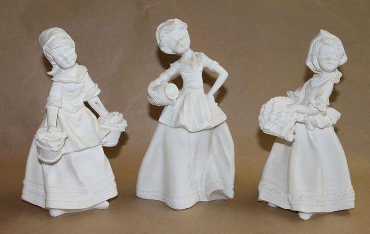 FIGURAS CONJUNTO DE TRES CHICAS DE ALABASTRO PARA PINTAR | Casa, jardín y bricolaje, Decoración para el hogar, Figuras decorativas | eBay!