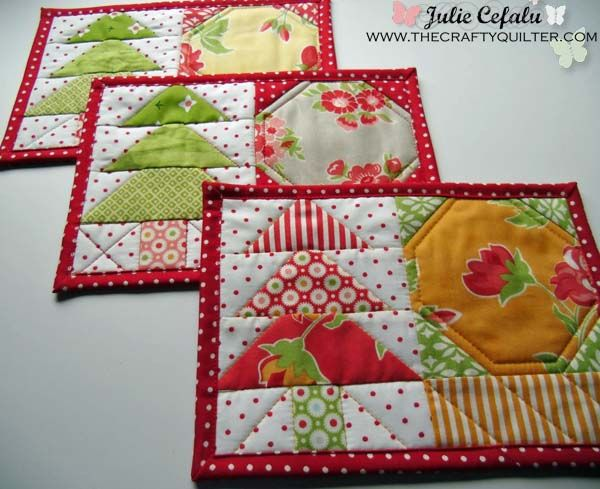 Mug Rugs from The Crafty Quilter