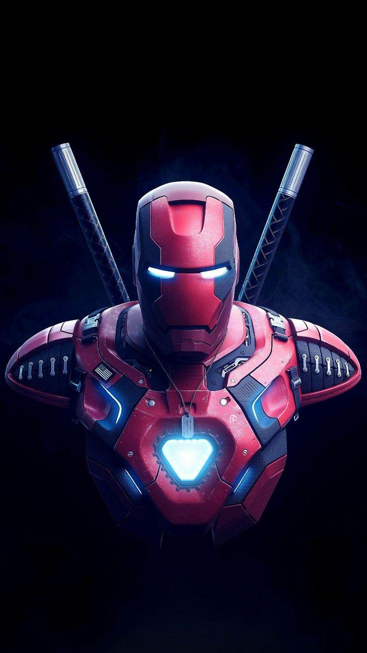 Deadpool and Ironman mix Deadpool wallpaper, Superhero