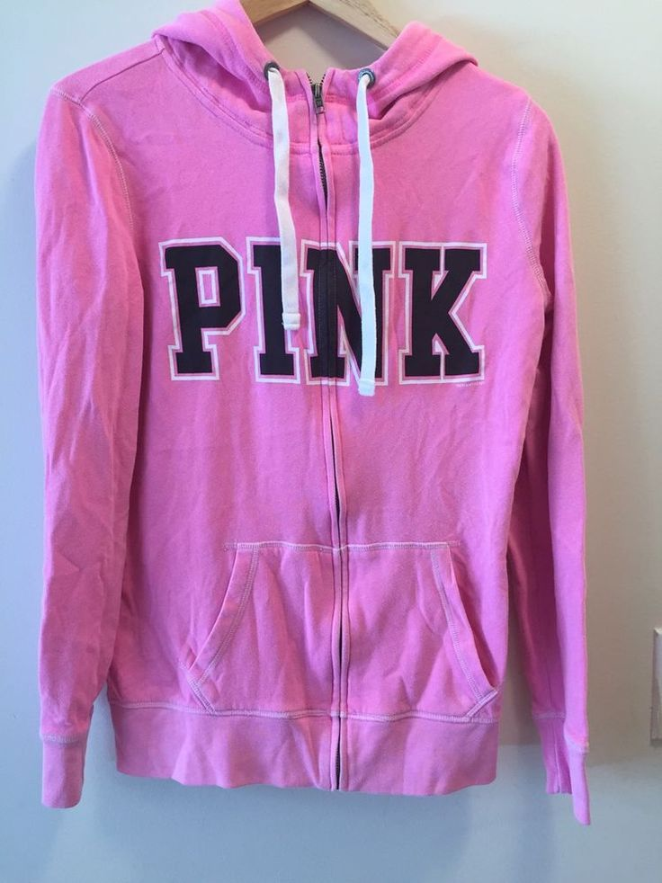 Lot of 2 victoria secret pink zip up hoodies sz XS used  | eBay