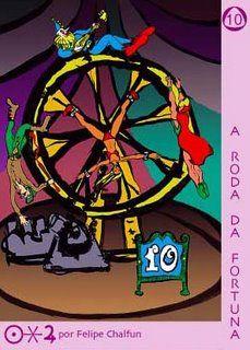 """10 - Roda da Fortuna – A mobilidade da sorte ~ Senhoras e senhores!  Sejam bem - vindos ao Circo da Vida! Sua sorte poderá mudar da noite para o dia. Não há limites para as ironias do destino. Com vocês, a estreia de nosso novo número: """"SAMSARA"""""""