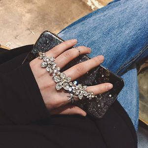 Fashion Creative Chain Crystal Diamond Bling Case Cover For i Phone 6 6S 7 Plus
