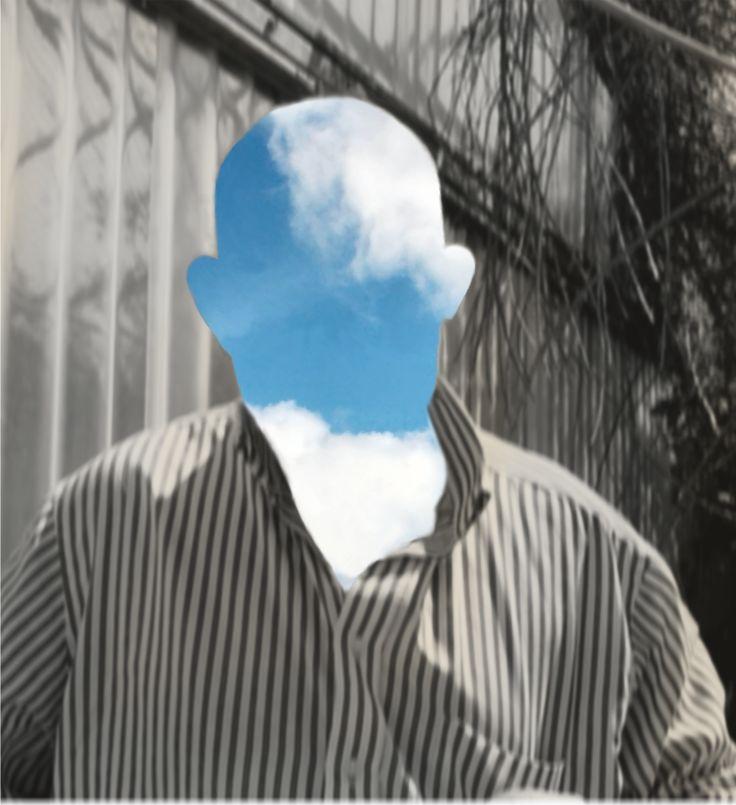 ora che sei il cielo black and white, sky, clouds, no face, love