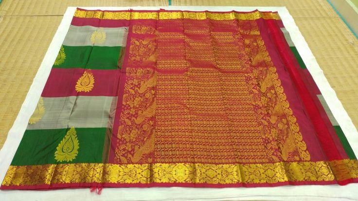 Trendy Kanchipuram Handloom Pure Silk Saree   www.kanjeevaramsilks.in