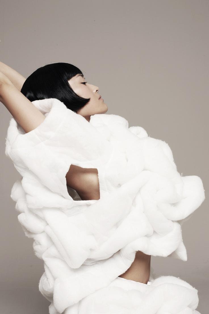 Soft Sculptural Structures... wearable art; 3d fashion; creative fashion // comme des garçons