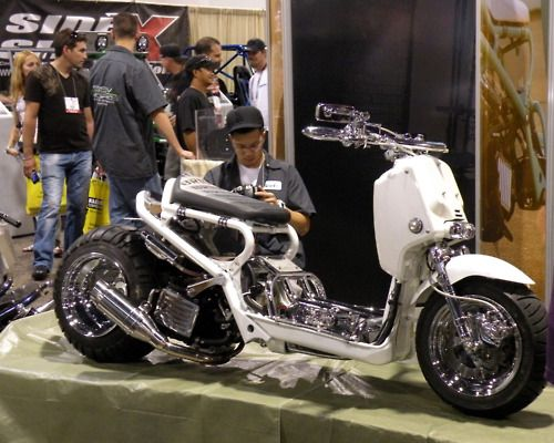 Stretch Ruckus - I had no idea there are scooter modding enthusiasts.  Another example.    http://daytonamotorcycleparts.com/news/Honda-Ruckus-Parts_8.html