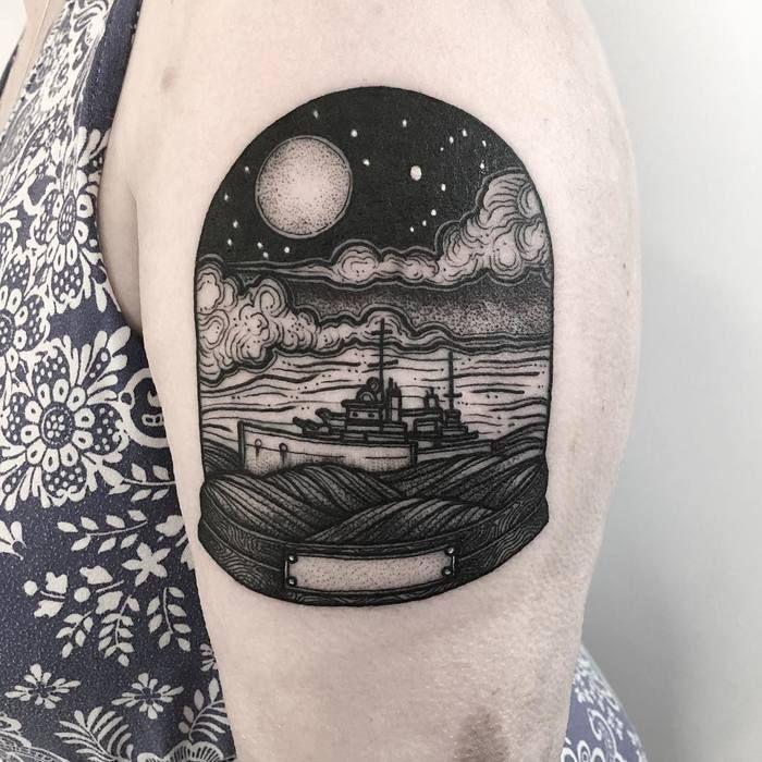 111 melhores imagens de blackwork tattoos no pinterest for Georgie williams tattoo