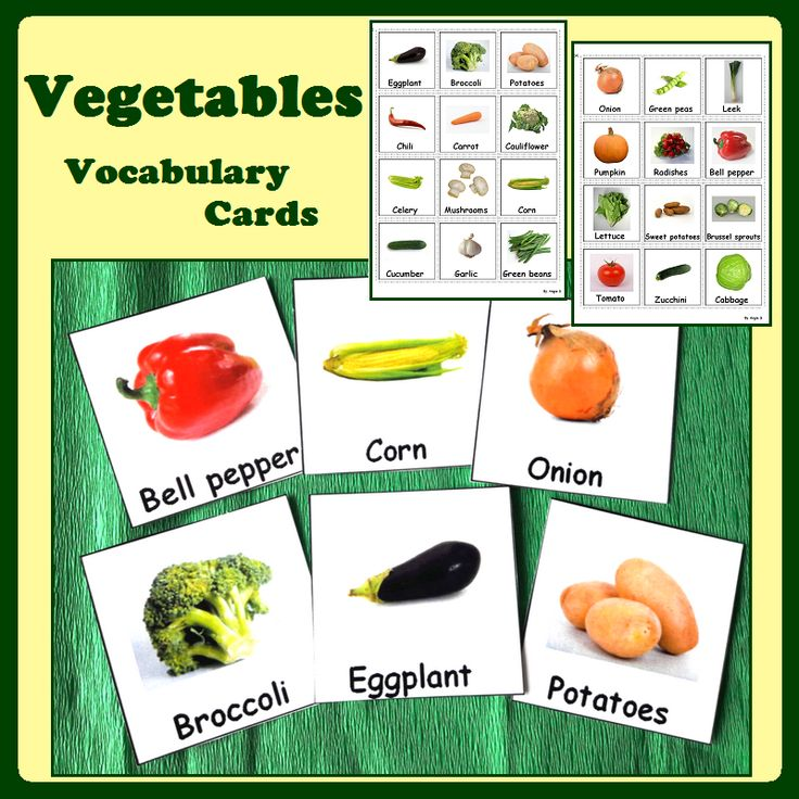 Vegetables Pecs #autism For more resources follow https://www.pinterest.com/angelajuvic/autism-special-education-resources-angie-s-tpt-sto/