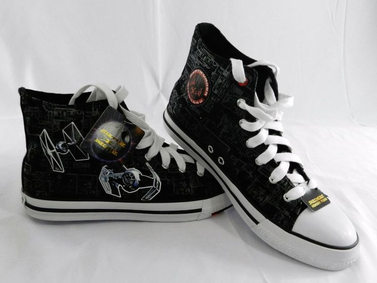 NEW Star Wars Skechers Kids Cayden Lorrad Starfighter Sneaker High Top Size  6.5 #SKECHERS