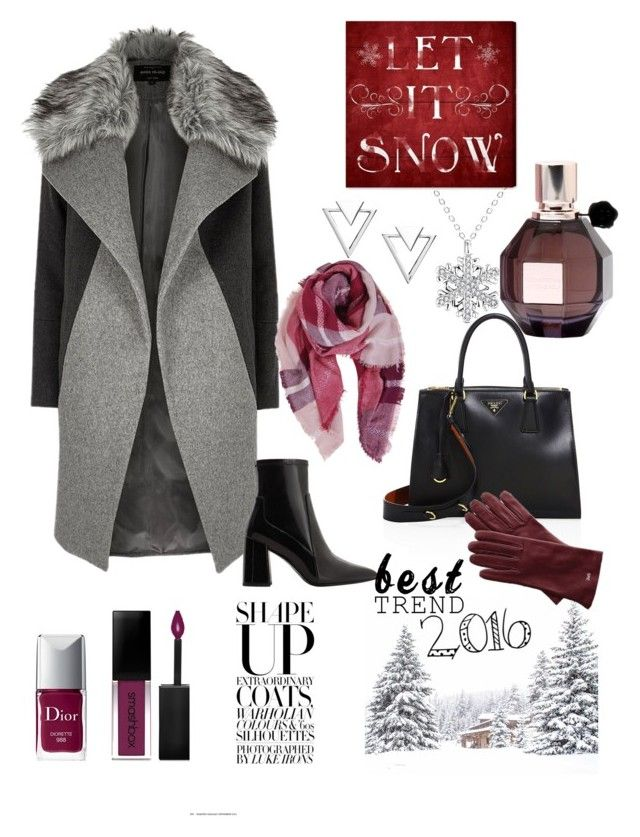 """Let it snow❄️"" by oxyk23 on Polyvore featuring Nadri, River Island, Oliver Gal Artist Co., MANGO, Prada, Humble Chic, Viktor & Rolf, Christian Dior, Smashbox and Mark & Graham"