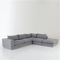 Image de canapé gris d'angle convertible → touslescanapes.com