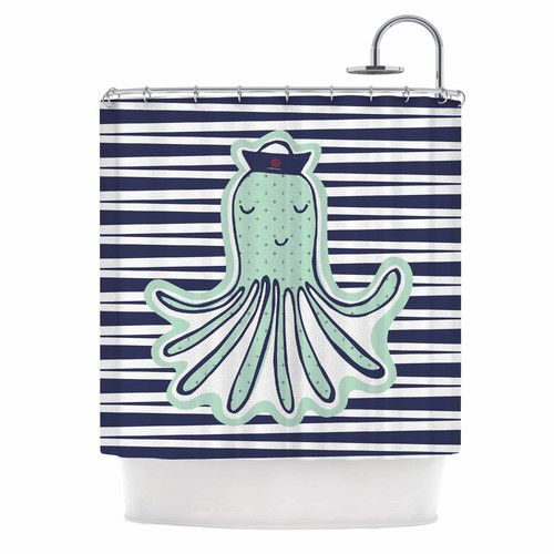 Found it at Wayfair - Pulpo by MaJoBV Octopus Shower Curtain