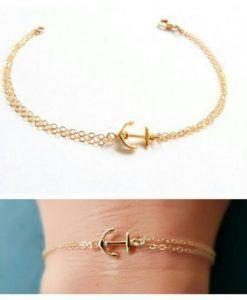 Bracelet ancre or