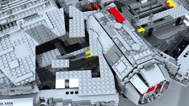 Lego Millennium Falcon Stop Motion Assembly 3d / insanity via @James Leng