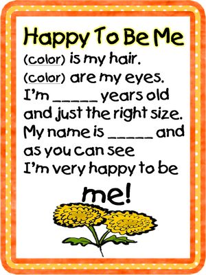 Great Poem for All about Me/Beginning of School! Goes with the book Chrysanthemum!