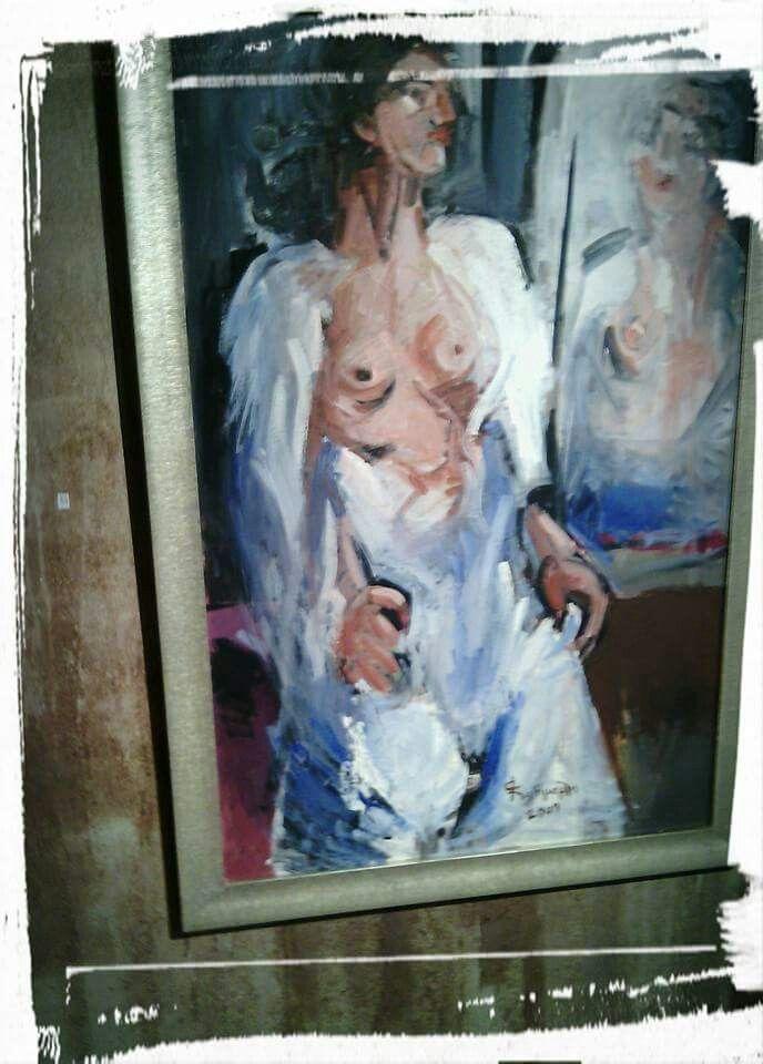 """Από την έκθεση ζωγραφικής της Άννας Κατιμερλή στην gallery """"Tesla"""" της BABEL"""
