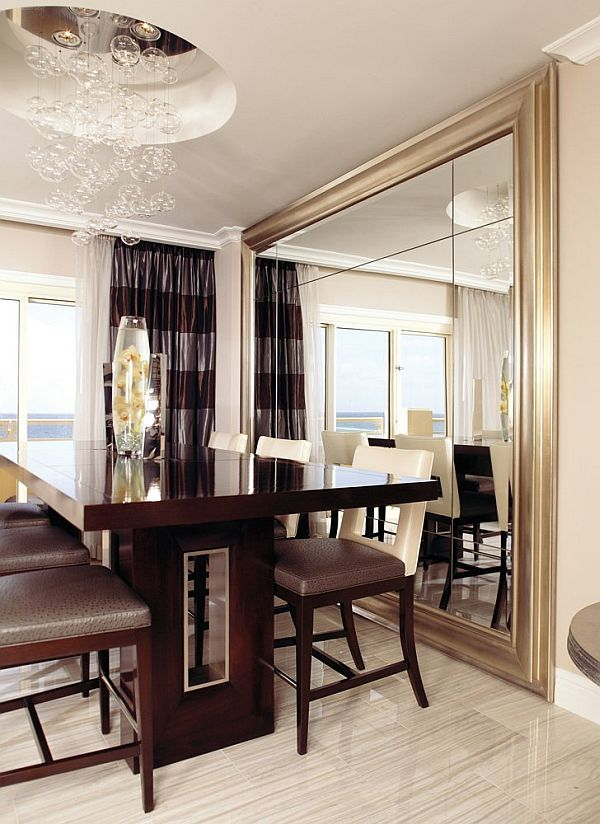 Decorate Using Oversized Mirrors Dining Room