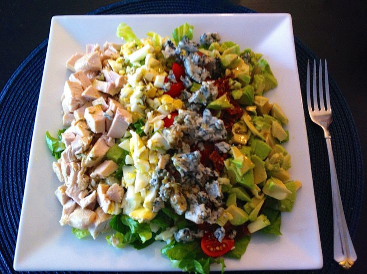 A classic salad from the Golden Days of Hollywood - the famous Cobb Salad from the legendary Brown Derby! http://brigitteskitchenandhome.blogspot.ca/2013/09/brown-derby-cobb-salad.html