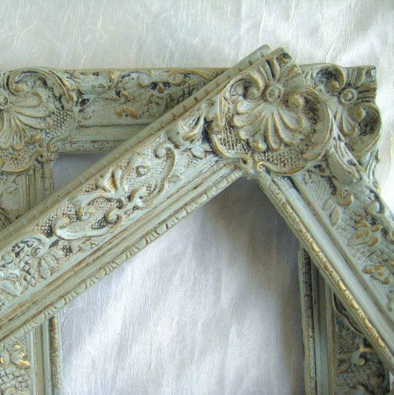 Shabby Chic Painted Frame Collection 5x7 Pair Vintage Open Gallery Wall Frames