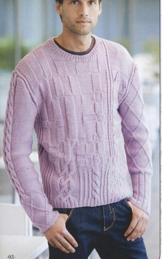 Knitted mens sweater