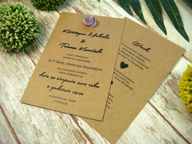 zaproszenia ślubne z różyczkami E2