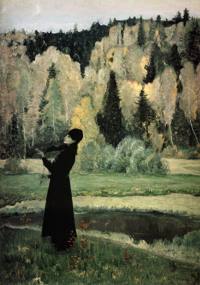 lilithsplace:  'Elegy. Blind Musician', 1928 - Mikhail Nesterov (1862–1942)