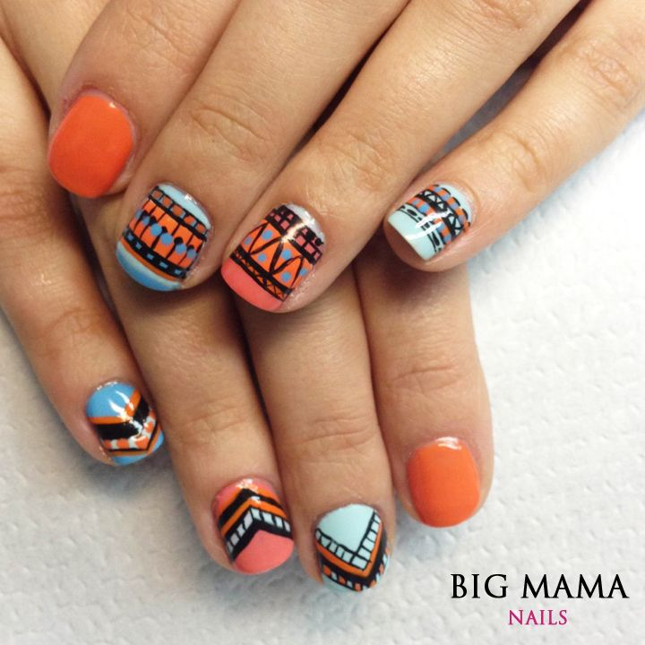 BoHo indiański wzór  #nail #nails #nailart #paznokcie