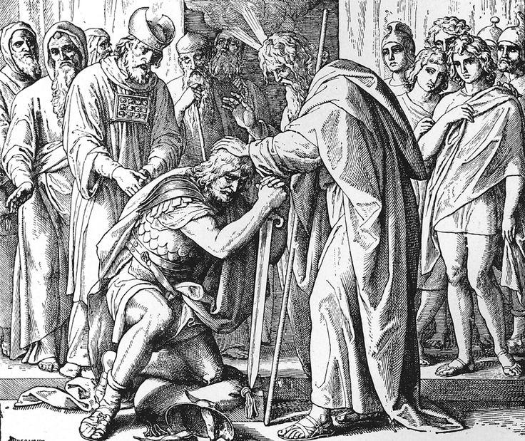 Bilder der Bibel – Josua ist Moses Nachfolger geweiht – Julius Schnorr von Carols …   – Bilblische Bilder und Zeichnungen