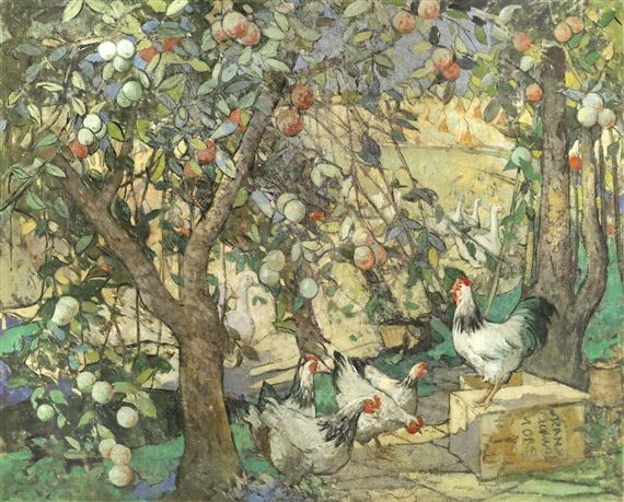 William Lee-Hankey - In the orchard, oil on canvas