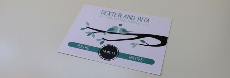 Illustrated Design for Wedding Invitations
